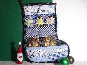 Шьем лоскутный валенок — новогоднее интерьерное украшение. Ярмарка Мастеров - ручная работа, handmade.