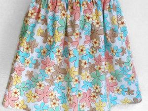 Детские хлопковые юбочки. Ярмарка Мастеров - ручная работа, handmade.