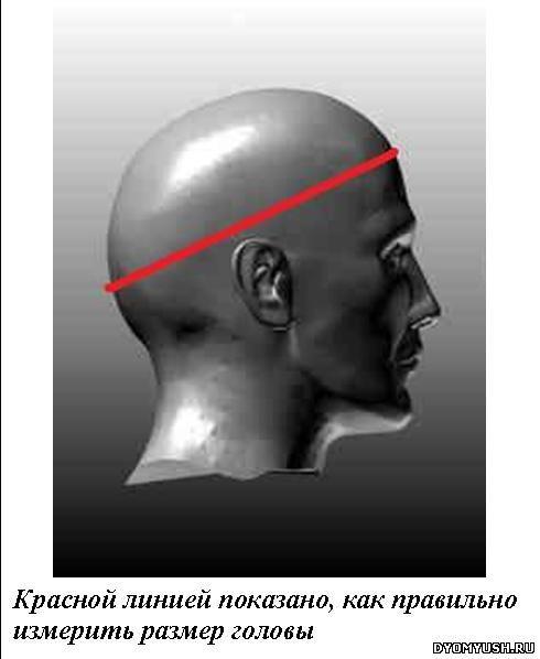 размер головы, измерить голову