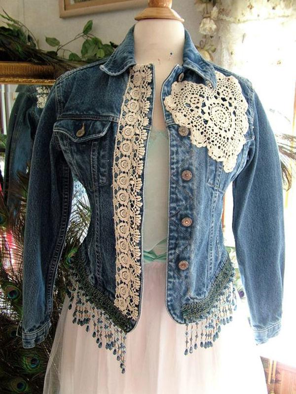 Многообразный декор джинсовых курток: 50 интересных вариантов, фото № 18