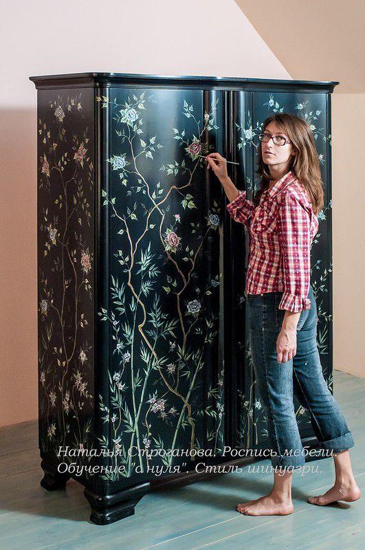 декорирование мебели, курс росписи мебели