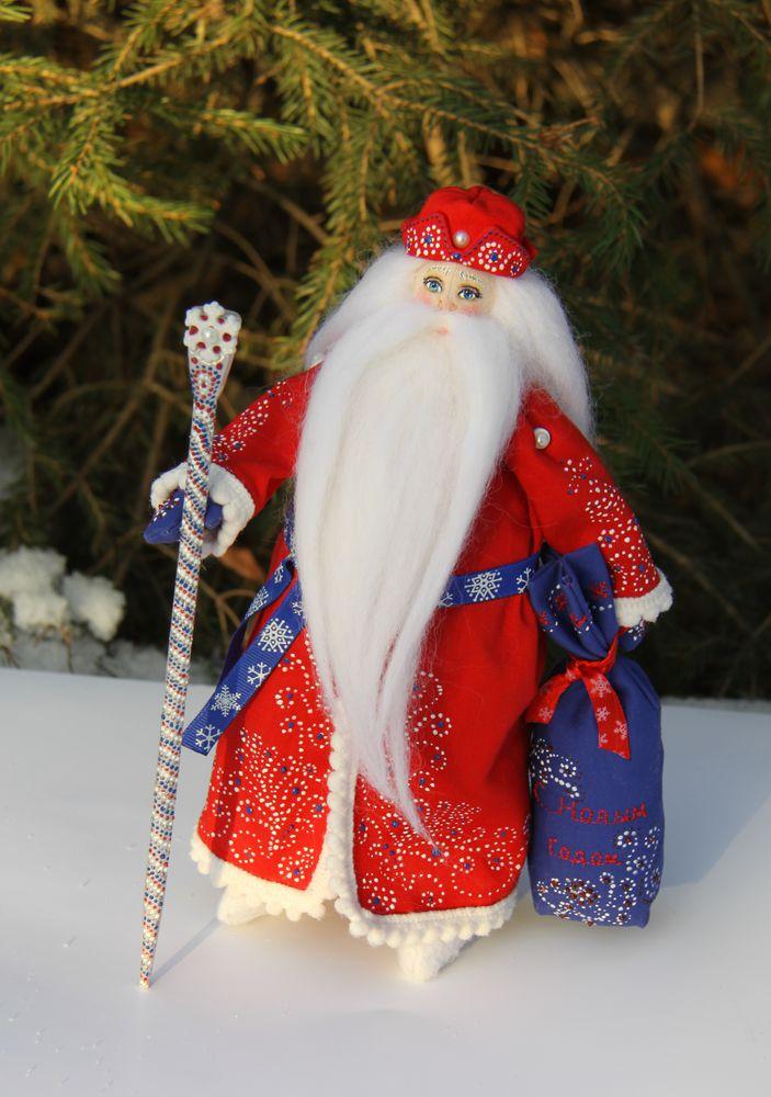 дед мороз и снегурочка, ручная роспись