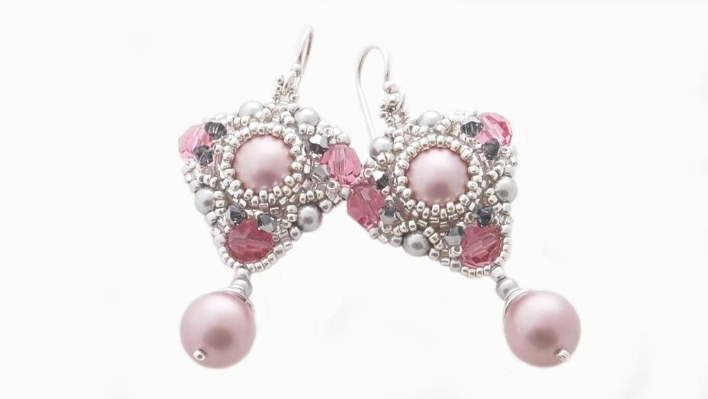 jewelry, jewellery, earrings, beads, beadwork, украшения, украшения из бисера, бисер, серьги, серьги из бисера, видео, подарок, видеоролик, handmade, designer jewelry, gift, spring