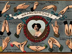 Язык любви в старинных открытках. Ярмарка Мастеров - ручная работа, handmade.
