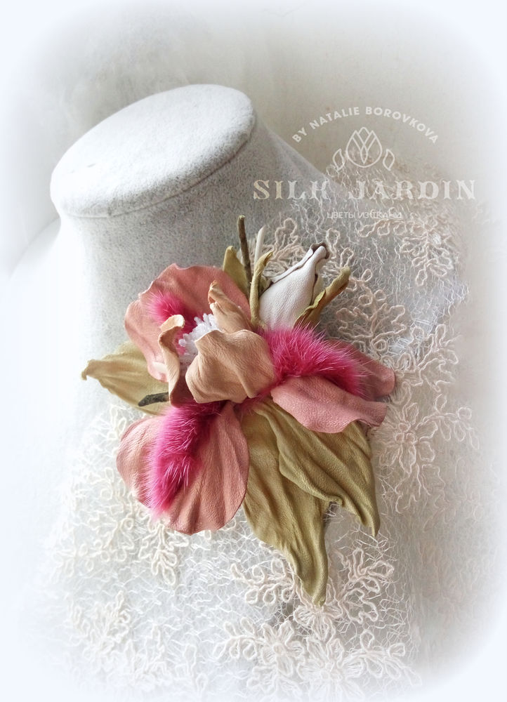 кожаные цветы, обучение цветоделию