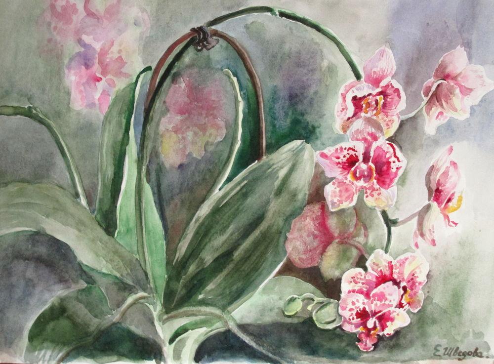 красивые цветы, акварель для интерьера
