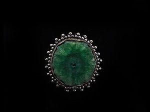 "Аукцион на Кольцо ""Морской залив"" с Зеленым Кварцем. Ярмарка Мастеров - ручная работа, handmade."