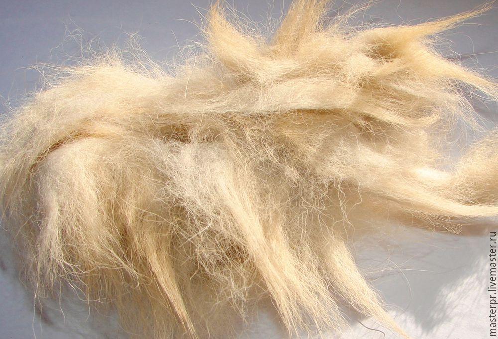прядение собачьей шерсти, прядение на прялке, пряжа шотландец