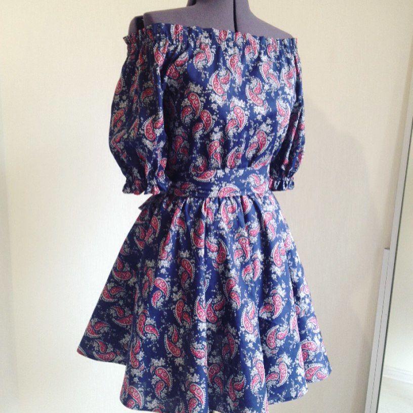 платье крестьянка, платье на праздник