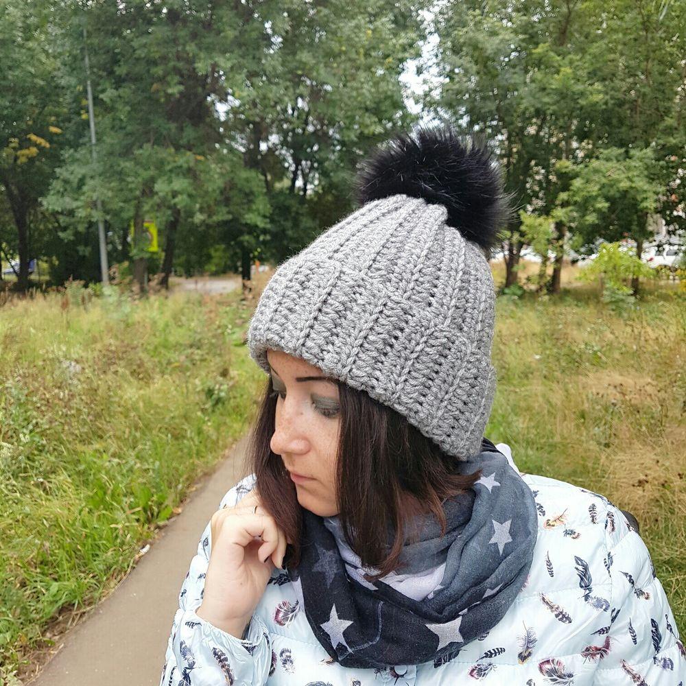 купить вязаную шапку