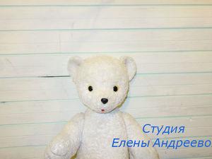 Реставрация белого мишки. Фотоотчет. Ярмарка Мастеров - ручная работа, handmade.