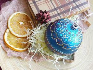 Украшаем елочный шар точечной росписью или роспись по кругу. Ярмарка Мастеров - ручная работа, handmade.
