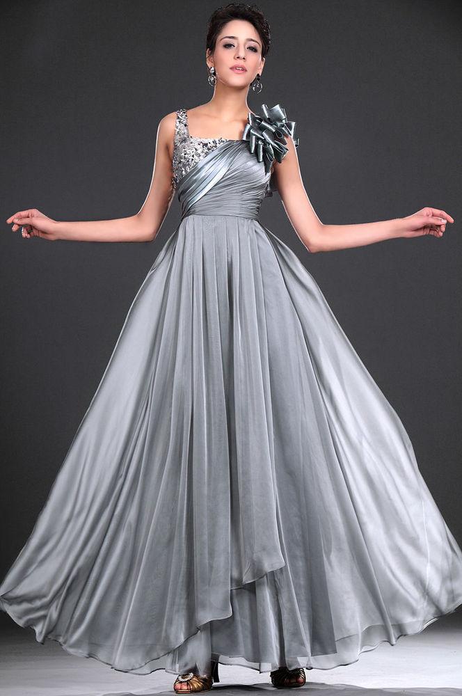 Платья стального цвета