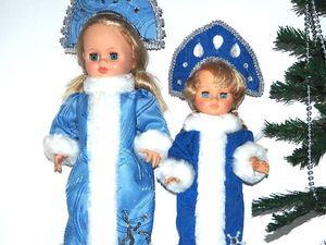 Шьем наряд снегурочки к Новому году для куклы. Ярмарка Мастеров - ручная работа, handmade.