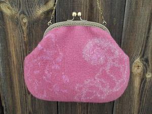 Изготовление валяной сумочки с фермуаром. Ярмарка Мастеров - ручная работа, handmade.
