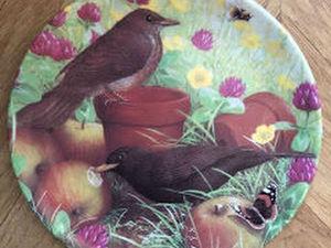 Coalport Bird Plate Fruit Feast, Garden Visitors Series Danbury Mint | Ярмарка Мастеров - ручная работа, handmade