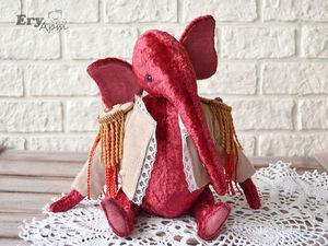Слон тедди за 1800р. Ярмарка Мастеров - ручная работа, handmade.