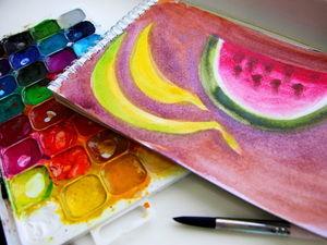 Как нарисовать фрукты: видео мастер-класс для детей. Ярмарка Мастеров - ручная работа, handmade.