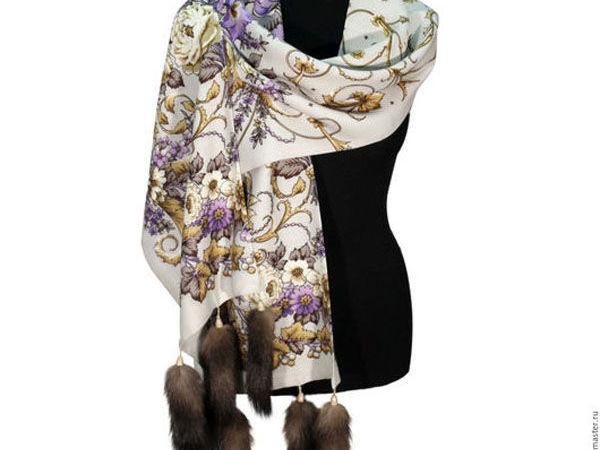 Теплые шарфы и палантины - роскошное дополнение к весенним нарядам   Ярмарка Мастеров - ручная работа, handmade