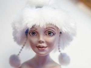 Делаем Снегурочку в смешанной технике. Часть 2 | Ярмарка Мастеров - ручная работа, handmade