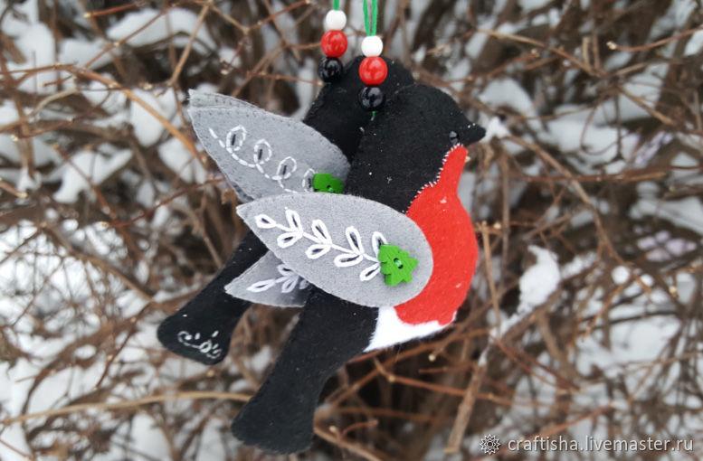 Как сшить из фетра снегиря 59