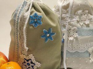 Создаем мешочек для новогоднего подарка. Ярмарка Мастеров - ручная работа, handmade.