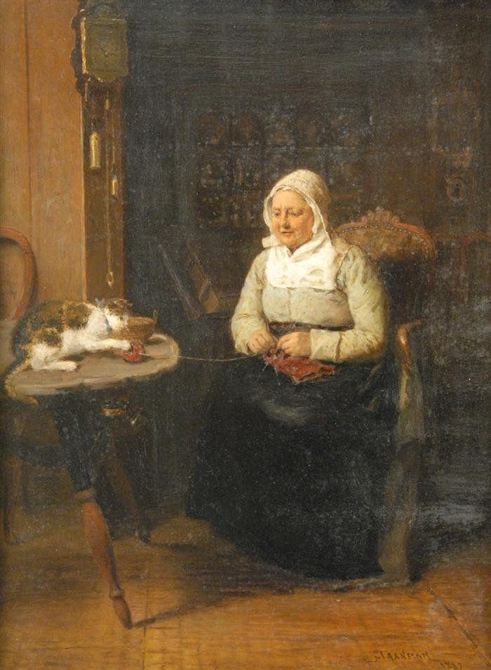 Когда есть чем заняться — стареть некогда: душевные картины о бабушках-рукодельницах, фото № 20