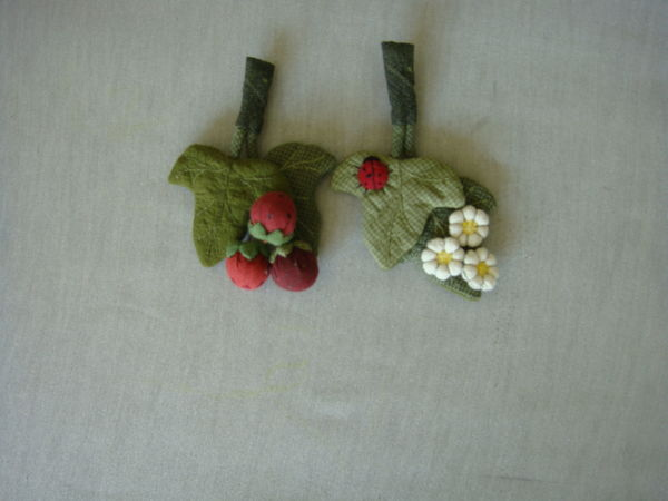 Текстильные брошки  - Ягодки - Цветочки | Ярмарка Мастеров - ручная работа, handmade