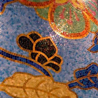 Мозаичный декор колонны, фрагмент