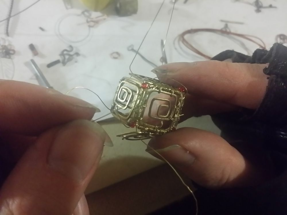 новое украшение, wire work, jewelry