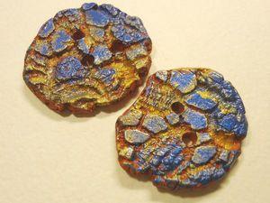 Мк Лепим керамические пуговицы с глазурями. | Ярмарка Мастеров - ручная работа, handmade