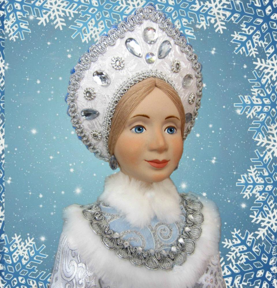снегурочка, новый год 2017, новогодний подарок, кукла в подарок, красивая кукла, кукла ручной работы, кукольное очарование