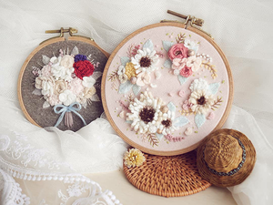 Цветочная нежность: вышивка корейской мастерицы Yun Hye-Jin. Ярмарка Мастеров - ручная работа, handmade.