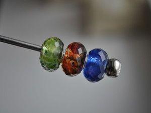 Искусственные звездные кварцы для Pandora и Trollbeads в наличии. Ярмарка Мастеров - ручная работа, handmade.