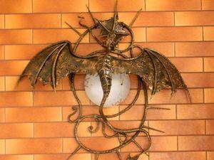светильник дракон. Ярмарка Мастеров - ручная работа, handmade.