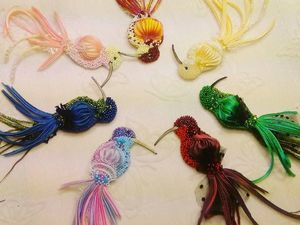 Мастер  класс  Птичка  колибри  с  лентой  шибори. Ярмарка Мастеров - ручная работа, handmade.