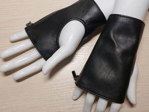 Новая работа в магазине — кожаные митенки. Ярмарка Мастеров - ручная работа, handmade.