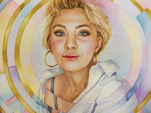 Оригинальный символичный портрет по фотографии. Ярмарка Мастеров - ручная работа, handmade.
