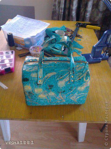 Гардероб Мастер-класс Шитьё Пошив кожаной сумки своими руками Кожа фото 18