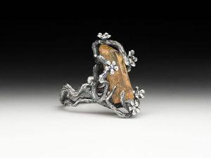 Новинка! Кольцо Лесная рапсодия с кварцем-волосатиком. Ярмарка Мастеров - ручная работа, handmade.