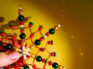Изготовление бисерной снежинки на жестком каркасе «Новогодний микс». Ярмарка Мастеров - ручная работа, handmade.