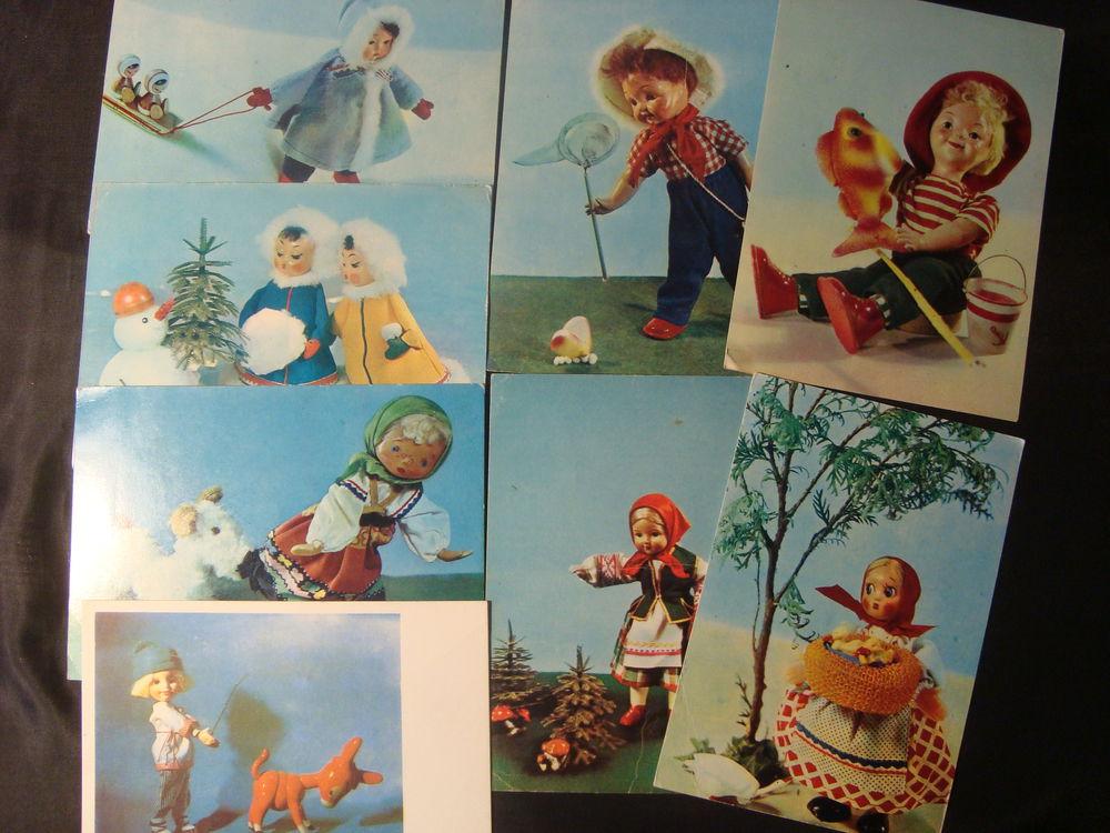 открытки, советские куклы, ретро