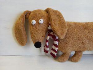 Собака - друг человека, а плюшевая собака - хороший подарок))) | Ярмарка Мастеров - ручная работа, handmade