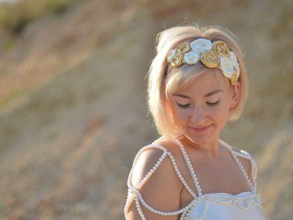 Нежный ободок для блондинок:-) и не только!   Ярмарка Мастеров - ручная работа, handmade