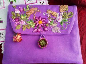 В магазине новый мастер класс по бразильской вышивке сумки косметички. Ярмарка Мастеров - ручная работа, handmade.
