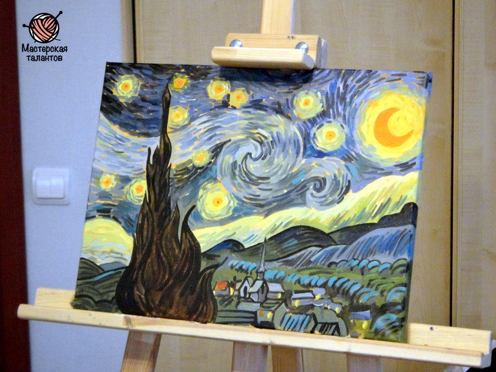 ночной пейзаж краски, эмоции страсть энергия