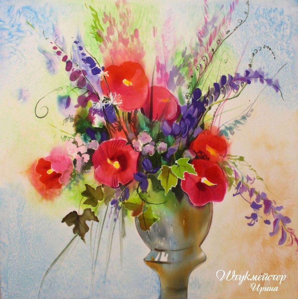 панно, мастер, штукмейстер, творчество, цветы