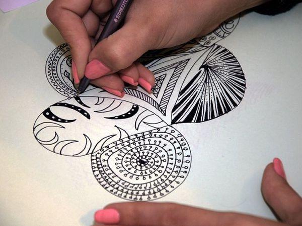 Мастер-класс по рисованию в технике Zentangle | Ярмарка Мастеров - ручная работа, handmade