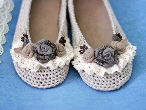 Не знаете - чего хотеть? Хотите вязаные туфли! | Ярмарка Мастеров - ручная работа, handmade