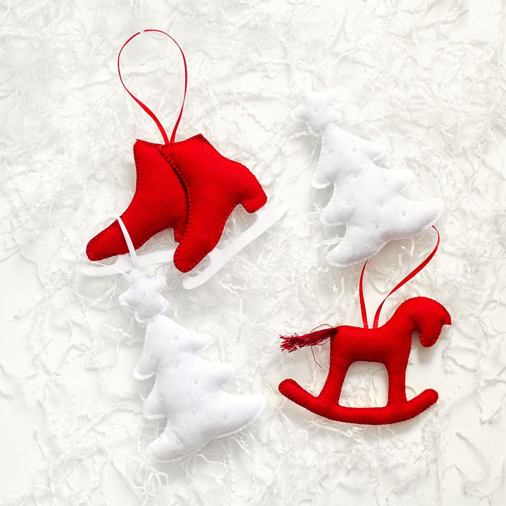 новогодние идеи, игрушки из фетра, рождественский ангел